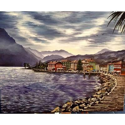Painting - Torbole Lake Garda by Art By Three Sarah Rebekah Rachel White