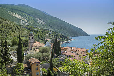 Lake Garda Photograph - Torbole Overlooking Lake Garda by Melanie Viola
