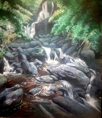 Painting - Torc Waterfall County Kerry Ireland by Paul Weerasekera