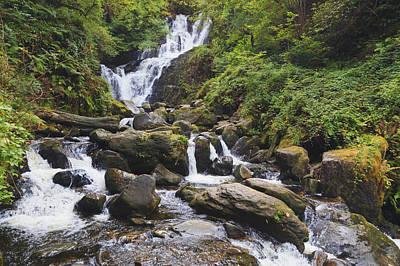 Torc Waterfall In Killarney National Art Print by Ken Welsh