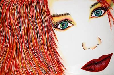 Tori Art Print by Joseph Lawrence Vasile