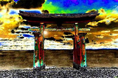 Sore Digital Art - Torii Sunrise by David Lee Thompson