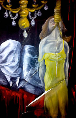 Ending Painting - Torn Apart by Katie Victoria Tolley