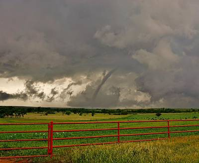 Photograph - Tornado At The Ranch by Ed Sweeney