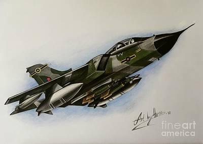 Drawing - Tornado Dash by Art By Three Sarah Rebekah Rachel White