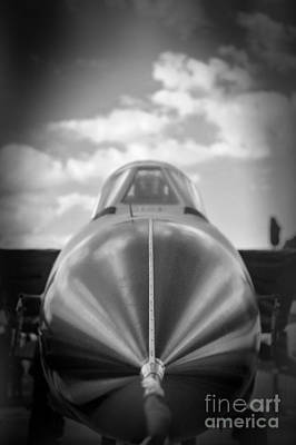 Door Locks And Handles - Tornado Fighter - Black and White by Stefano Senise
