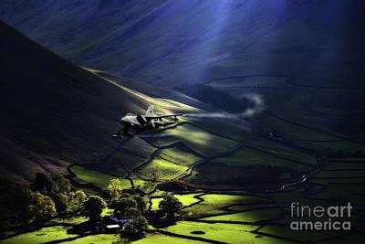 Sun Rays Digital Art - Tornado Low Level by J Biggadike