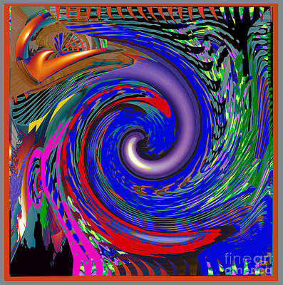 Healing Painting - Tornado Waves Colorful  An Artistic Vision Of Natures Beauty Energy And Fury by Navin Joshi
