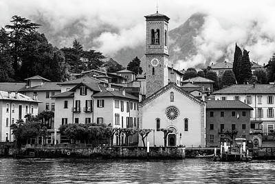 Photograph - Torno On Lake Como Italy Bw II by Joan Carroll
