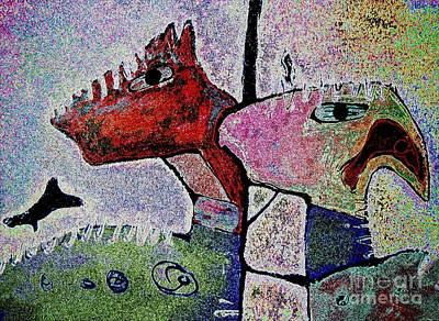 Toro Digital Art - Toro Muerto 4 by Pamela Iris Harden