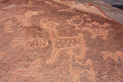 Photograph - Toro Muerto Petroglyph 02 by Aidan Moran