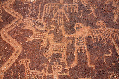 Photograph - Toro Muerto Petroglyph 37 by Aidan Moran