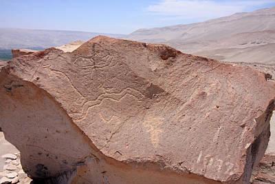 Photograph - Toro Muerto Petroglyph 43 by Aidan Moran
