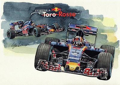 Toro Wall Art - Painting - Toro Rosso Str11 by Yoshiharu Miyakawa