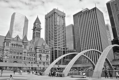 Photograph - Toronto 2017 Black And White by Frozen in Time Fine Art Photography