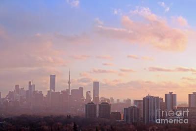 Photograph - Toronto 2017 Warm Winter Fog by Charline Xia