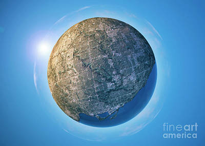 Toronto 3d Little Planet 360-degree Sphere Panorama Art Print by Frank Ramspott