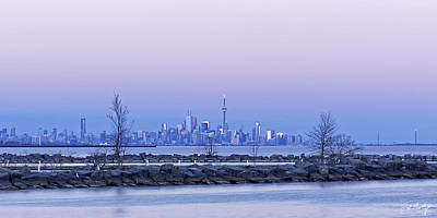 Toronto At Dusk Art Print by Phill Doherty
