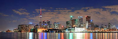 Photograph - Toronto At Night by Songquan Deng