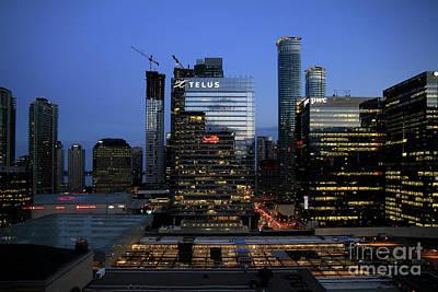 Photograph - Toronto At Night by Teresa Zieba