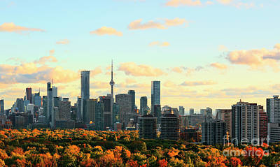 Photograph - Toronto Autumn Skyline by Charline Xia