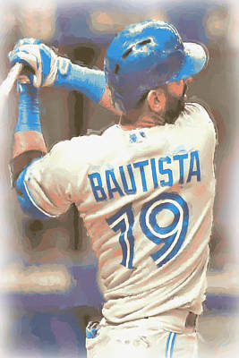 Photograph - Toronto Blue Jays Jose Bautista 2 by Joe Hamilton
