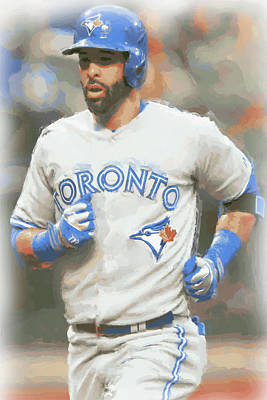 Photograph - Toronto Blue Jays Jose Bautista by Joe Hamilton