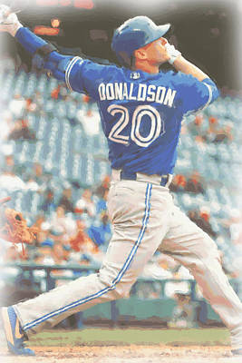 Blue Jay Photograph - Toronto Blue Jays Josh Donaldson by Joe Hamilton