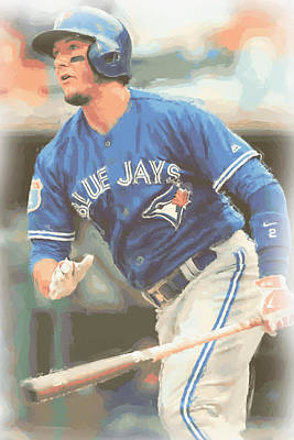 Photograph - Toronto Blue Jays Troy Tulowitzki by Joe Hamilton