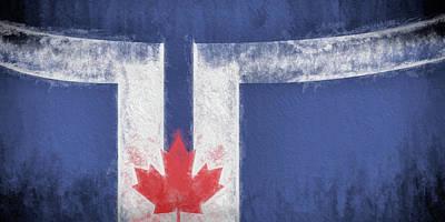 Digital Art - Toronto Canada City Flag by JC Findley