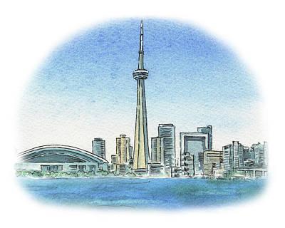 Painting - Toronto Canada City Skyline by Irina Sztukowski