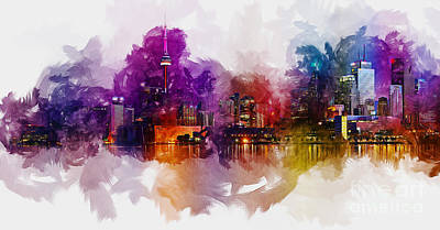 Digital Art - Toronto Canada Skyline by Ian Mitchell