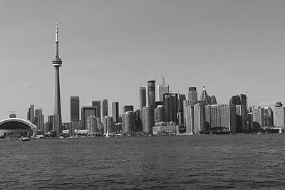 Photograph - Toronto Cistyscape Bw by Samantha Delory