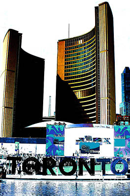 Photograph - Toronto City Hall Graphic Poster by Nina Silver