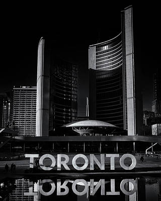 Art Print featuring the photograph Toronto City Hall No 1 by Brian Carson