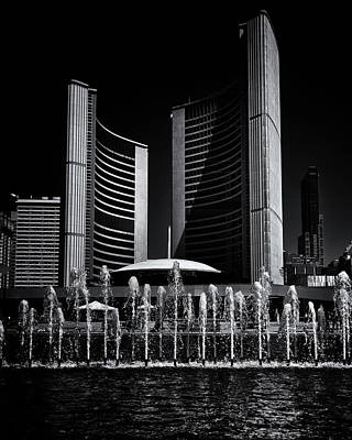 Art Print featuring the photograph Toronto City Hall No 25 by Brian Carson