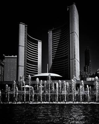 Photograph - Toronto City Hall No 25 by Brian Carson