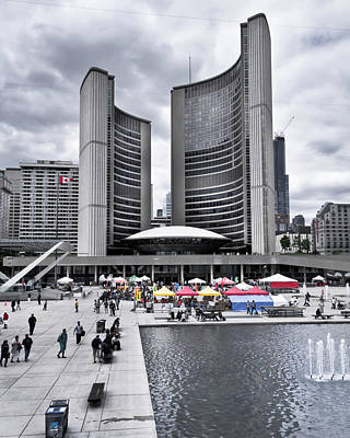 Art Print featuring the photograph Toronto City Hall No 3 by Brian Carson