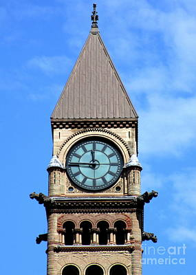 Photograph - Toronto Clock Tower by Randall Weidner