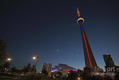 Toronto Cn Tower And Sky Dome Art Print by Charline Xia