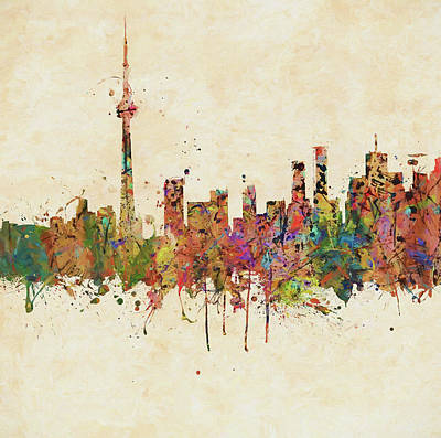 Painting - Toronto Colorful Skyline by Dan Sproul