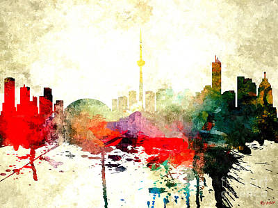 Mixed Media - Toronto by Daniel Janda