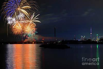 Photograph - Toronto Firework Celebration by Charline Xia
