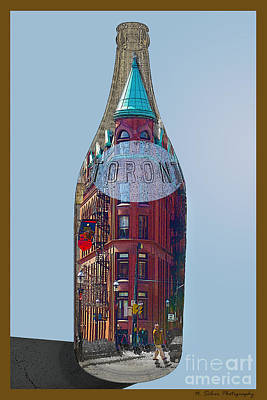 Photograph - Toronto Flat Iron Building In A Bottle by Nina Silver