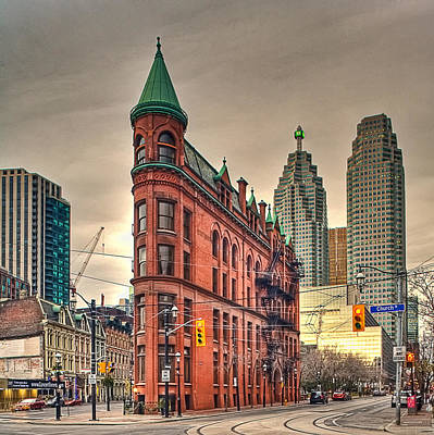 Toronto Flatiron Building Art Print by Theo Tan