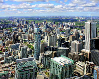 Photograph - Toronto From Above by Anthony Dezenzio