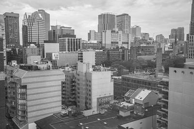 Photograph - Toronto From Above Black And White   by John McGraw