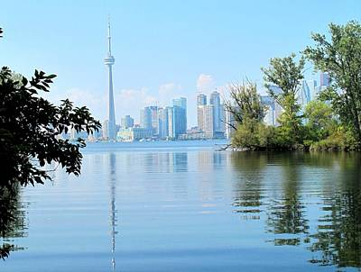 Toronto From The Islands Park Art Print by Ian  MacDonald