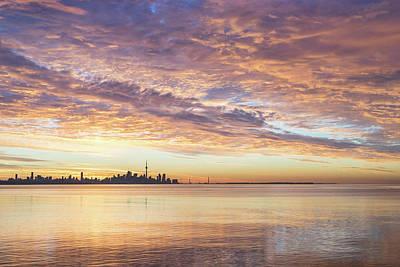 Photograph - Toronto Sunrise Glory June 20th 2018 by Georgia Mizuleva