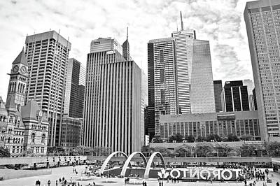 Photograph - Toronto Grayscale At The Park by Frozen in Time Fine Art Photography